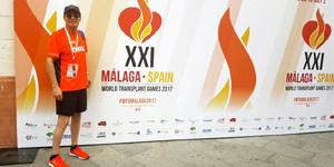 Paciente trasplantado en Clínica Santa María obtuvo medalla de bronce